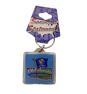 OK Map & Flag Keychain