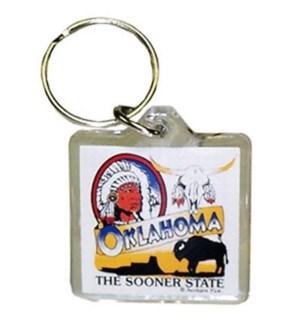 OK Sooner State Keychain
