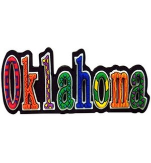 Oklahoma PVC Festive Magnet