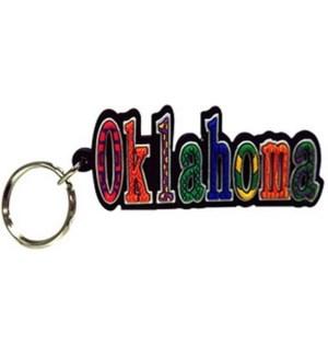 Oklahoma PVC Keychain