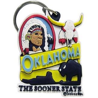 Oklahoma Indian Keychain