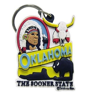 Oklahoma Indian Keychain