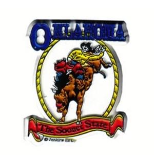 Oklahoma 2D Bronco Magnet
