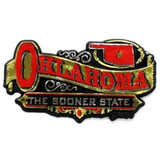 Oklahoma Banner Magnet
