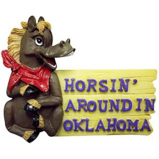 "Oklahoma ""Horsin' Around"" Magnet"