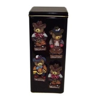 Oklahoma Teddy Bear Magnet
