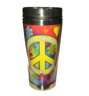 Oklahoma Tie Dye Travel Mug