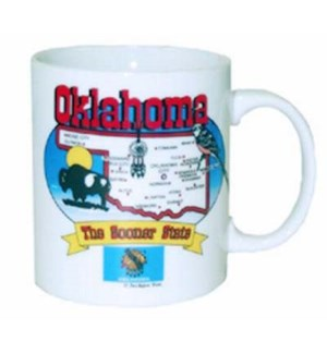 Oklahoma State Map Mug