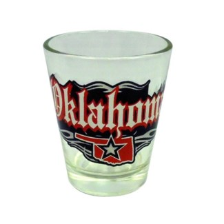 Oklahoma Rock N Roll Shotglass