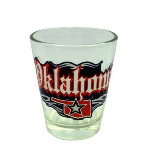 Oklahoma Rock N Roll Shotglass