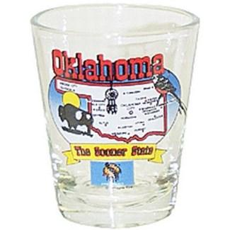 Oklahoma State Map Shotglass