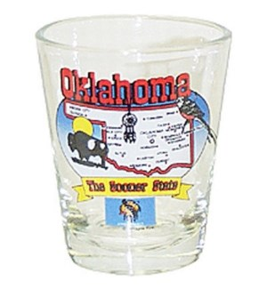 Oklahoma State Map Shotglass