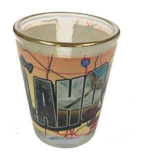 Oklahoma Gold Rim Shotglass