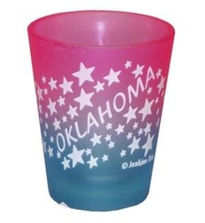Oklahoma Frosted Shotglass W/Stars