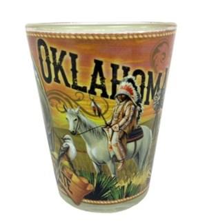Oklahoma Mural Shotglass