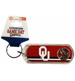 OU Lucky Penny Keychain