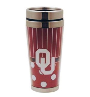 OU Polka Dot Travel Mug