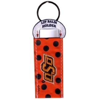 OSU Lip Balm Holder Keychain