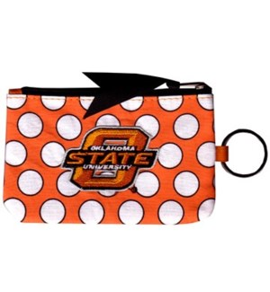OSU Polka Dot Coin Purse Keychain