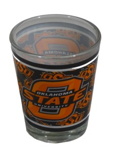 OK State Cowboys Wrapped Shotglass