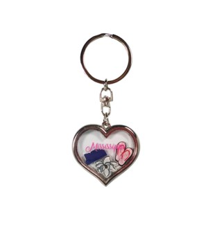 MS Heart with Charms Keychain