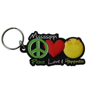 MS Peace Love Happiness Keychain