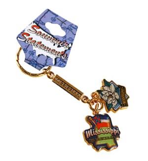 MS Metal Charm Keychain