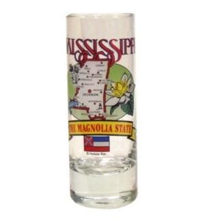 MS Map Shot Glass