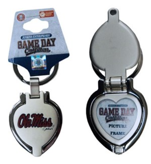 Ole Miss Locket Keychain