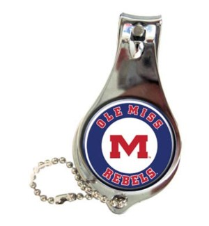 Ole Miss Nail Clipper Keychain
