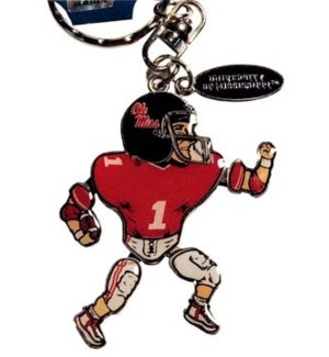 Ole Miss Movable Player Keychain