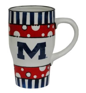 Ole Miss Hand Painted Mug