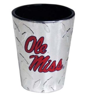 Ole Miss Diamond Plate Shot Glass