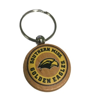 Southern Miss Bamboo Keychain