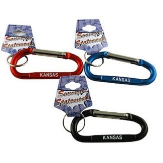 Kansas Carabiner Keychain