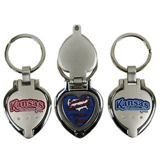 Kansas Locket Keychain