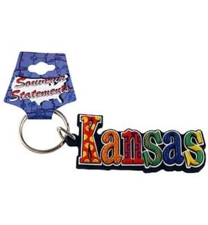 Kansas Festive Keychain