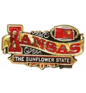 Kansas Banner Magnet