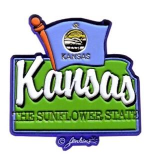 Kansas State Flag Magnet