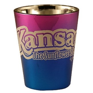 Kansas Electric Blue Shotglass