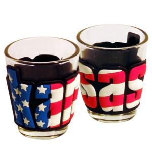 Kansas Patriotic Shot Glass