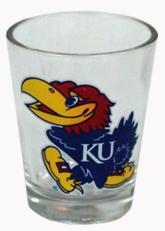 Kansas Jayhawks Logo Shot Glass