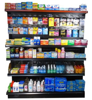 4' Over The Counter Medicine Rack