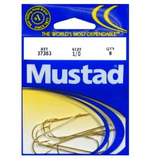 Mustad Gold 1/0 Hook