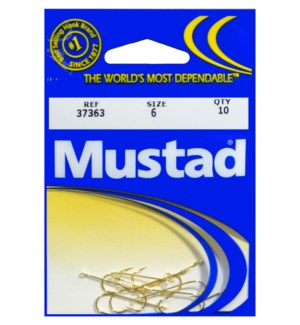 Mustad #6 Gold Hook