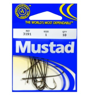 Mustad #1 Brown Hook