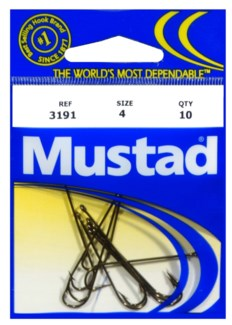Mustad #4 Brown Hook