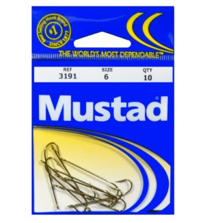 Mustad #6 Brown Hook
