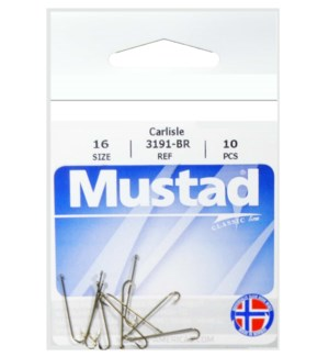 Mustad #16 Brown Hook