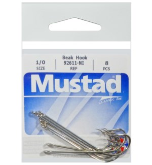 Mustad Long Shank 1/0 Hook